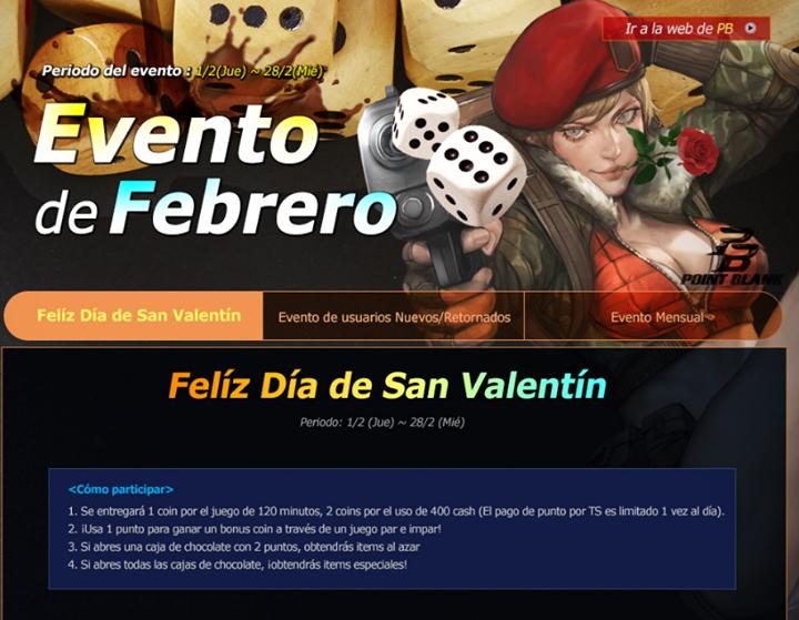 PointBlank: Evento Mensual en Febrero!