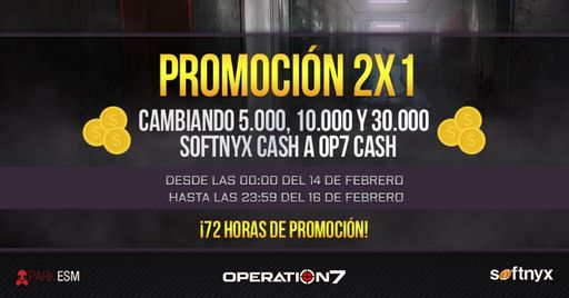 2x1 en Operation7 hasta el 16 de febrero