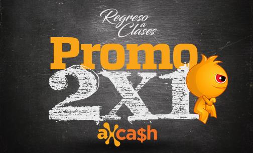 Axeso5: Promo 2x1 de vuelta a clases!
